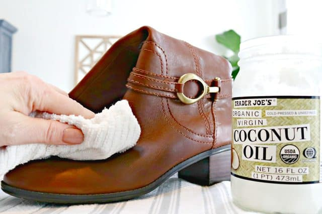 Coconut Oil Care for Leather Boots