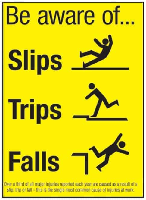 Slip Trip Fall Safety Tips, Prevention and Causes