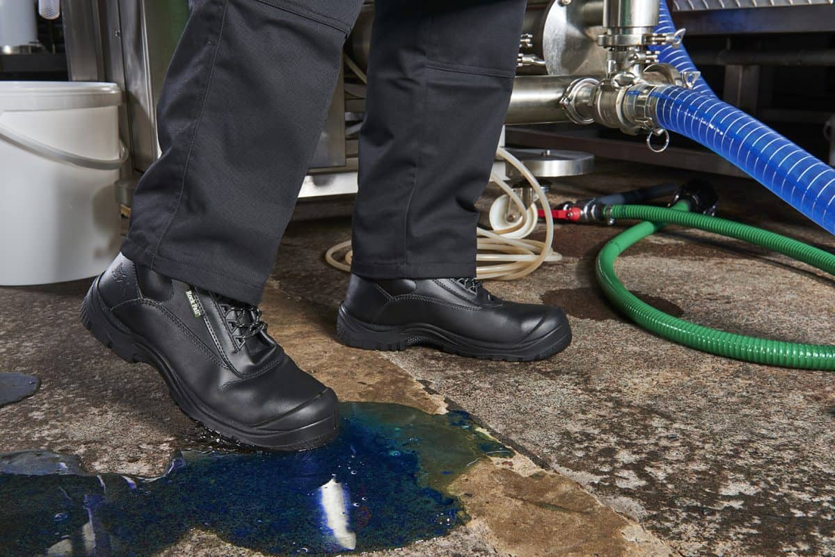 Chemical hazard protection boots