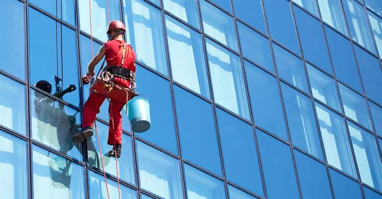 window-cleaner at height