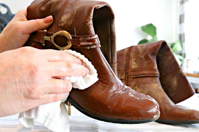 Condition Leather Boots With Household Items