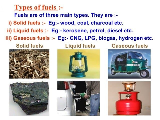 Types of fuel