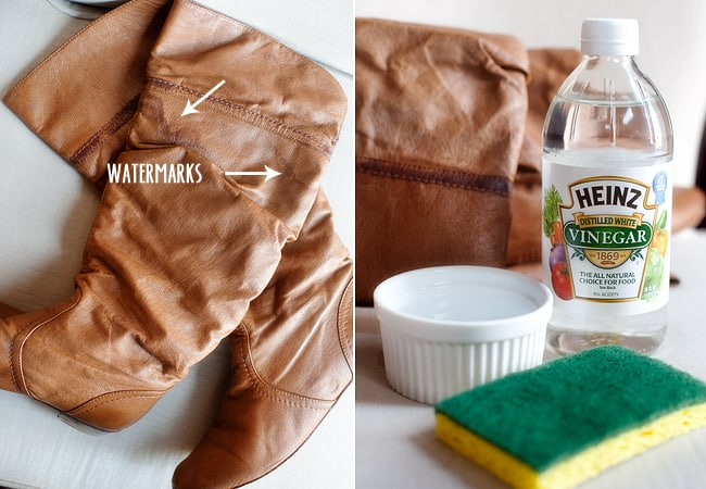 VINEGAR will do away Salt Stains from your Boots