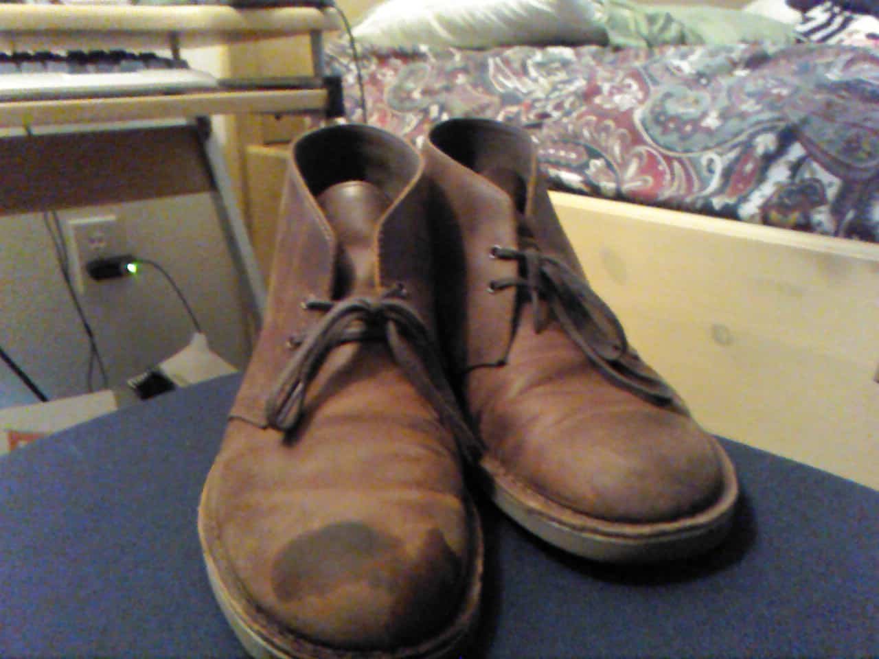 Boots are Stained with Grease or Oil