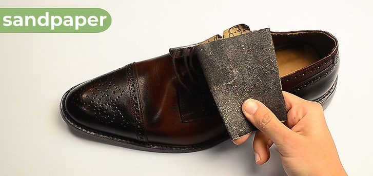 Use a Sandpaper to Make the Inside of the Top of the Shoe Even