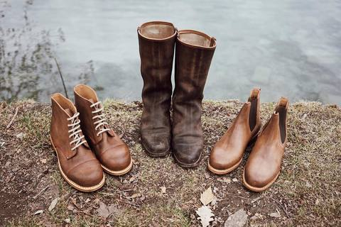 case study on leather boots get wet