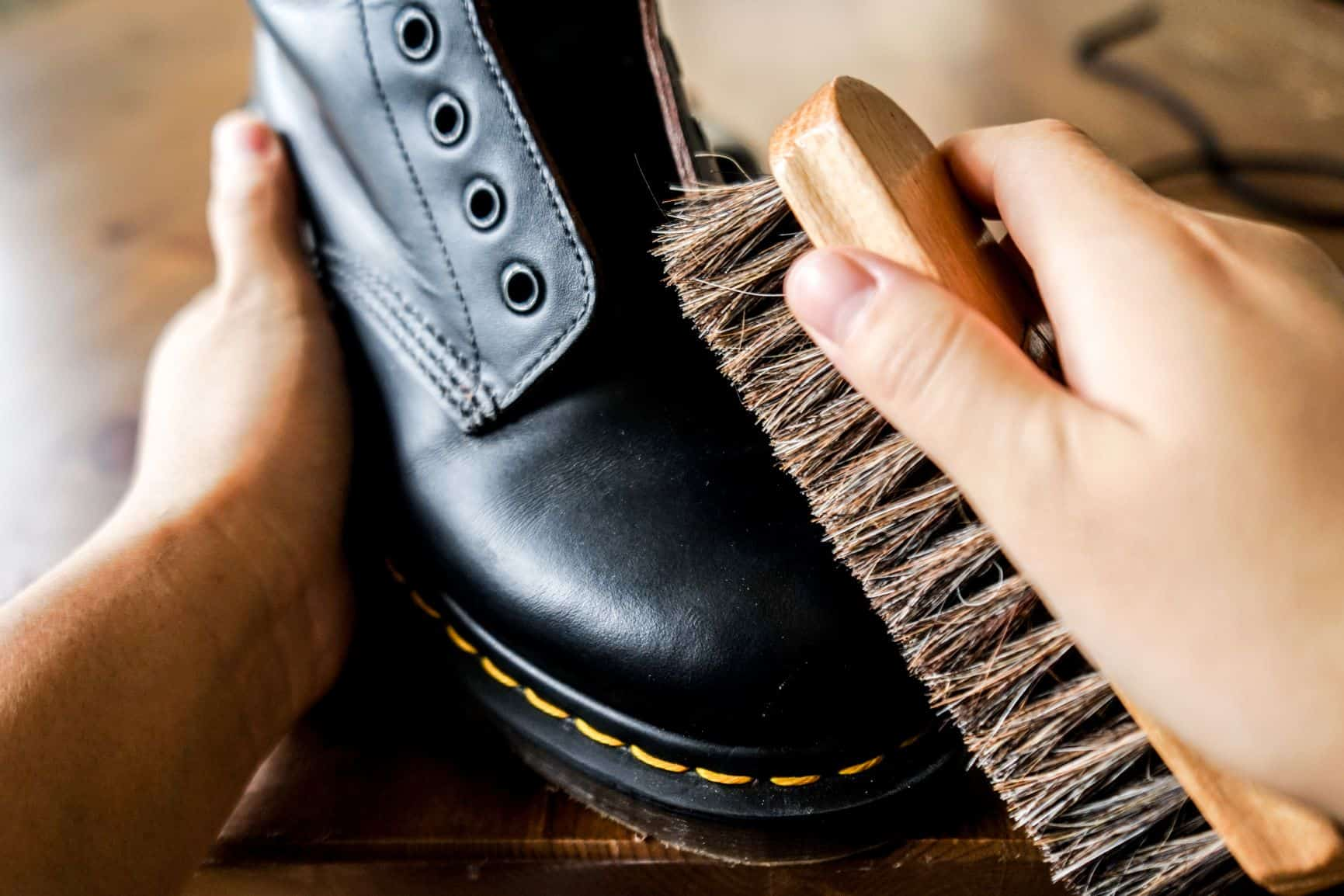 horsehair brush to clean boots