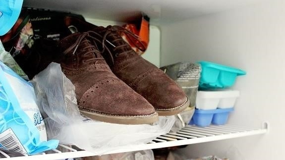 Put the shoes in the freezer