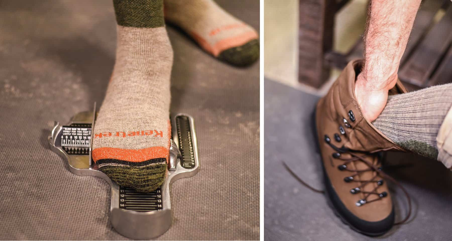 Take the measurement of your feet