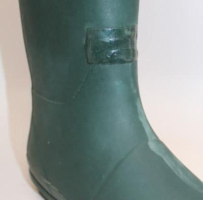 After glue leave rubber boot to dry