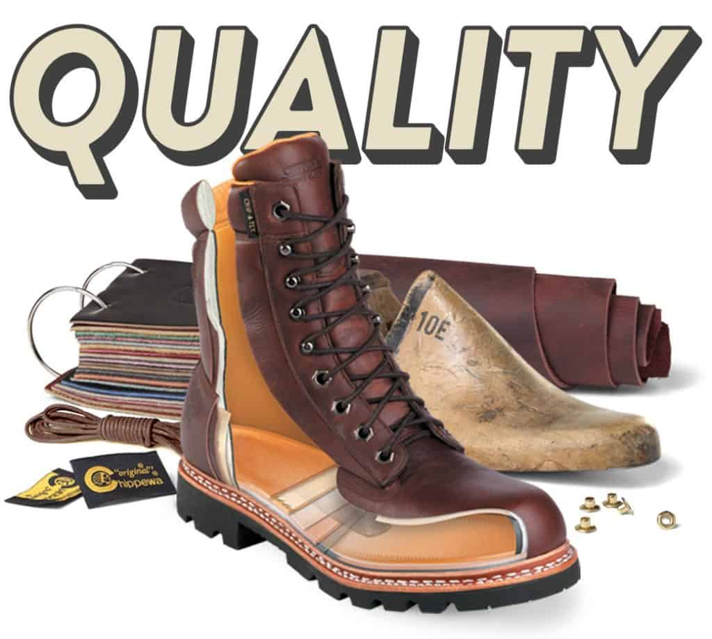 Material and quality of chippewa