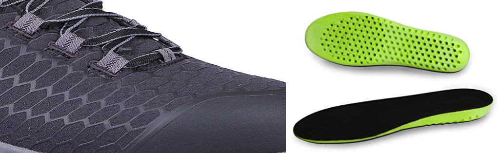 breathable mesh and insole