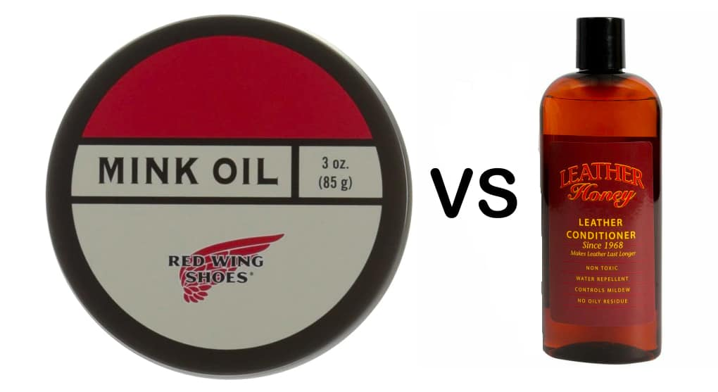 Mink oil vs leather conditioner