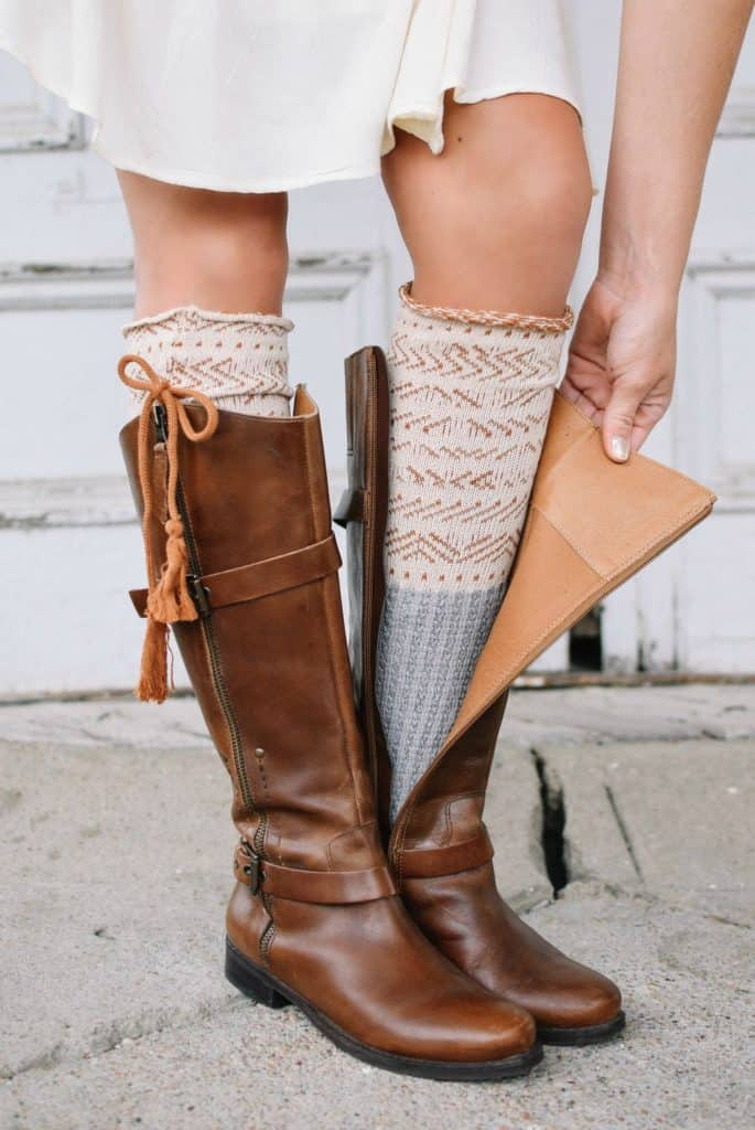Thick Pair of Long Socks with boots