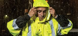 Safety vests protect from rain