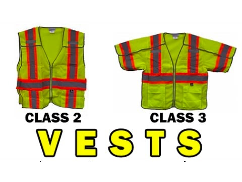 What is the difference between class 2 and class 3 vests