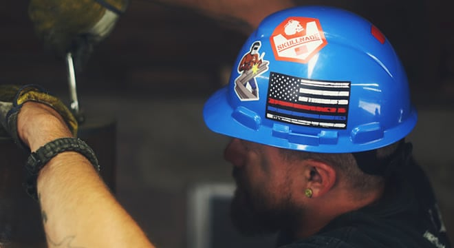 How to Put Stickers on Hard Hats