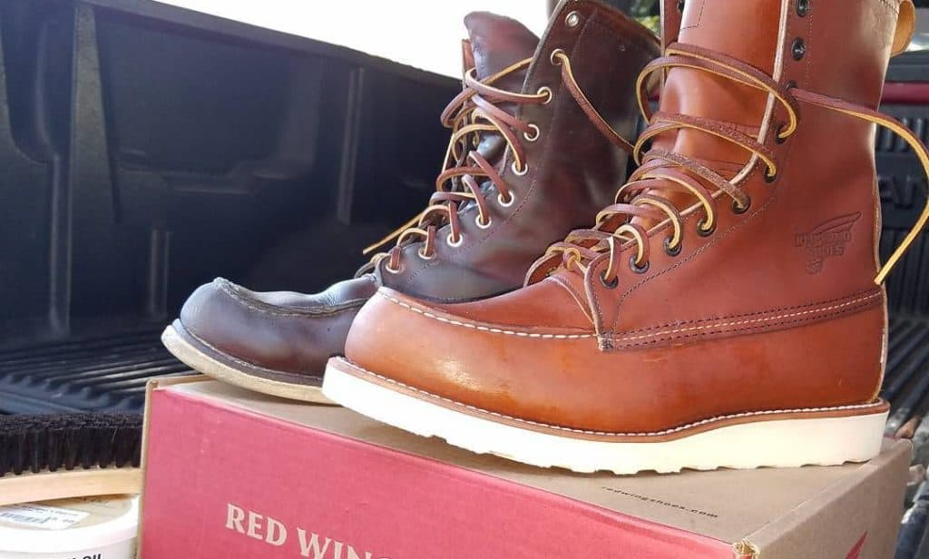 New pair of Leather Work Boots