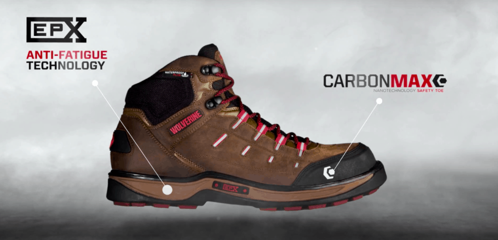 Wolverine work boots with CarbonMax technology