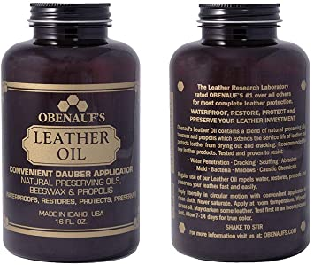 Obenauf's Leather Oil Conditions Restores Preserves Dry Leather