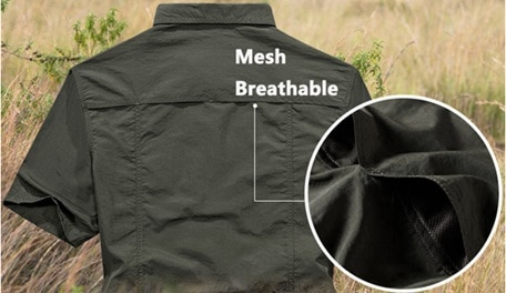 Breathable work shirts