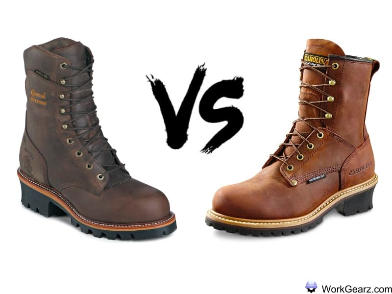 Chippewa vs carolina logger boots