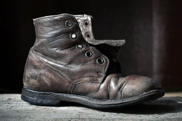 Dried and cracked boots soak more water