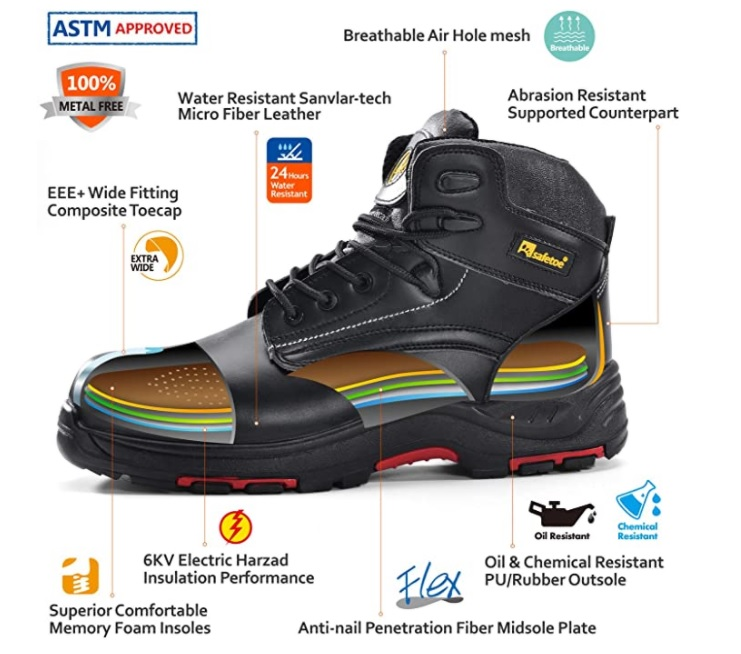 Features of Composite Toe Boots