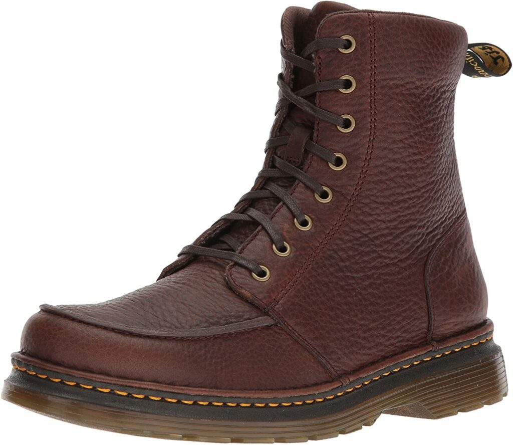 Dr Martens Lombardo Leather Moc Toe Men Work Boot