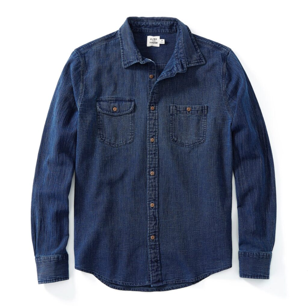 Flint and Tinder Indigo Denim Work Shirt