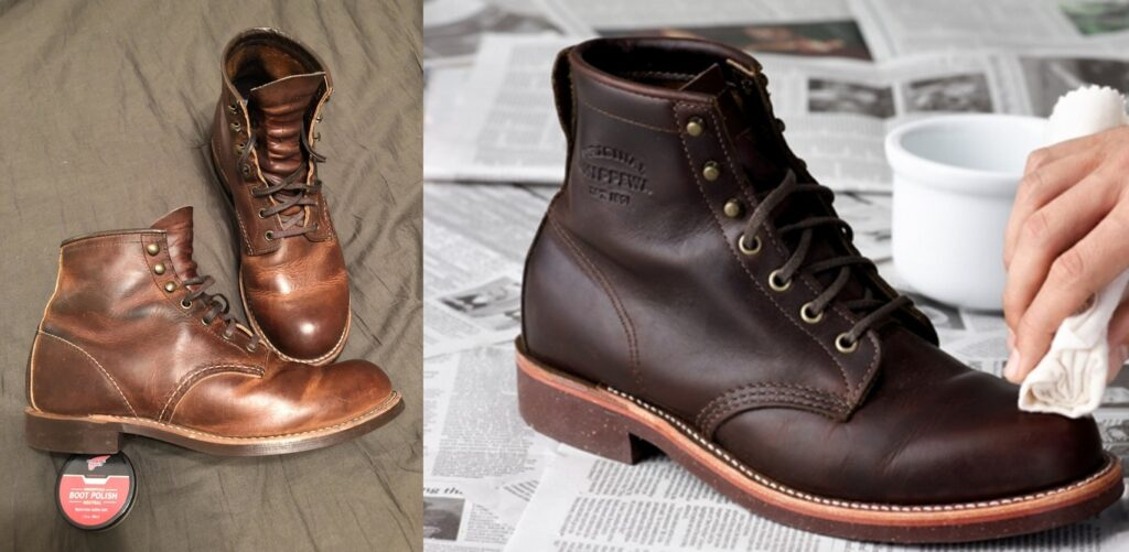 Is Darkening the Same as Polishing Boots