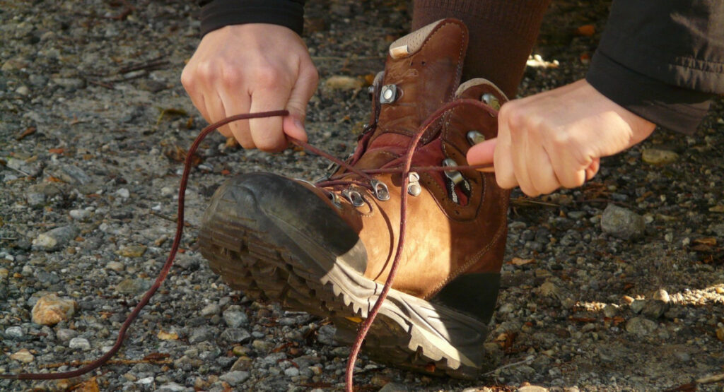 Lacing and Acing Welding Boots