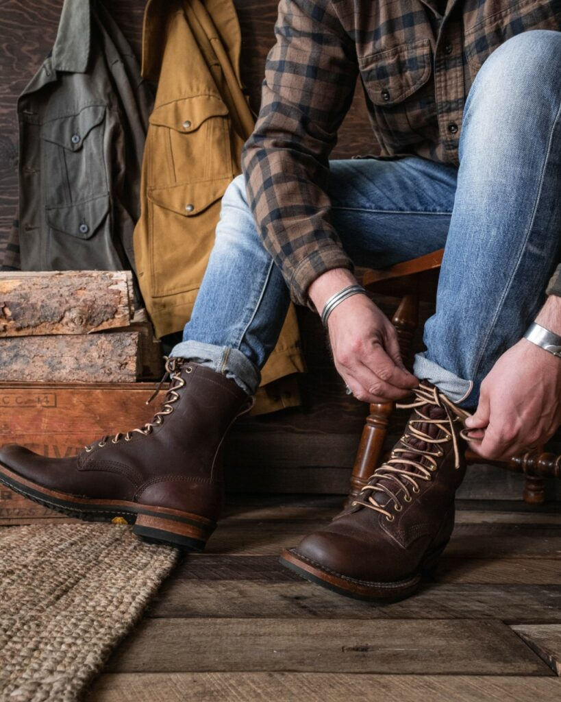 Wearing Logger Boots