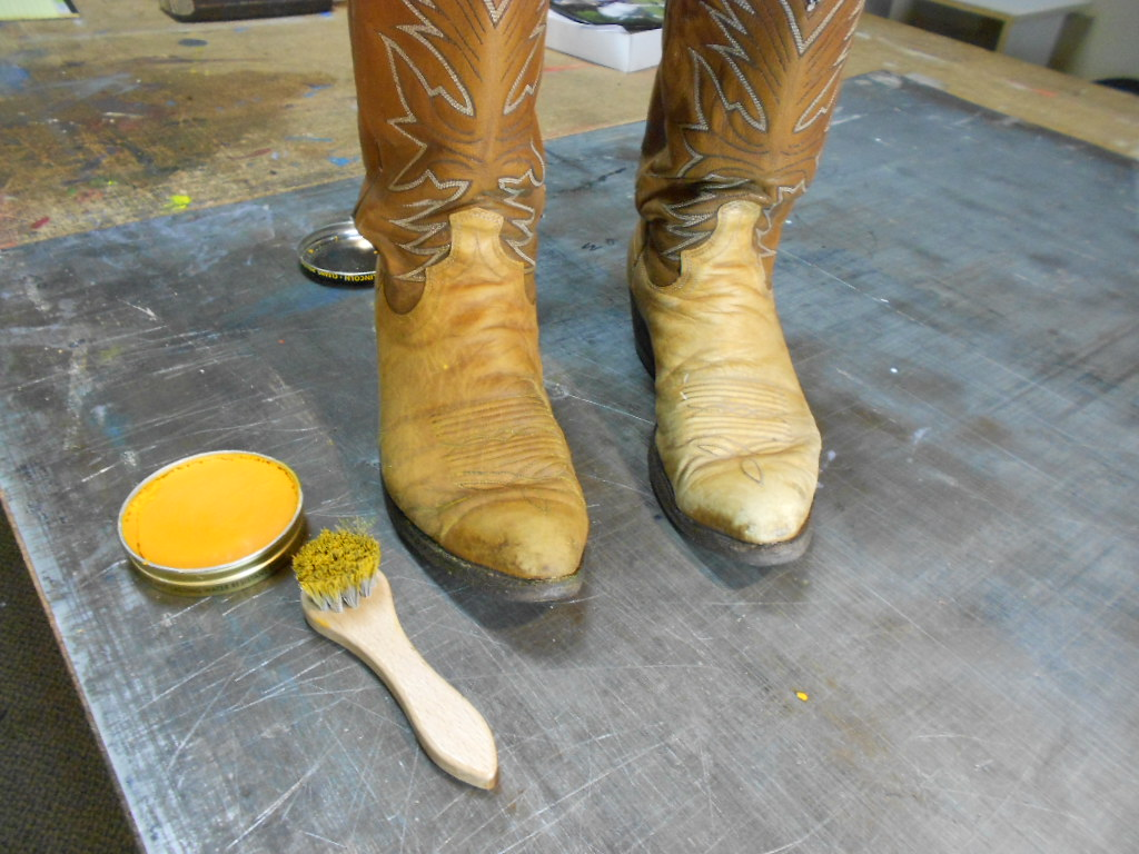 How does saddle soap work on cowboy boots