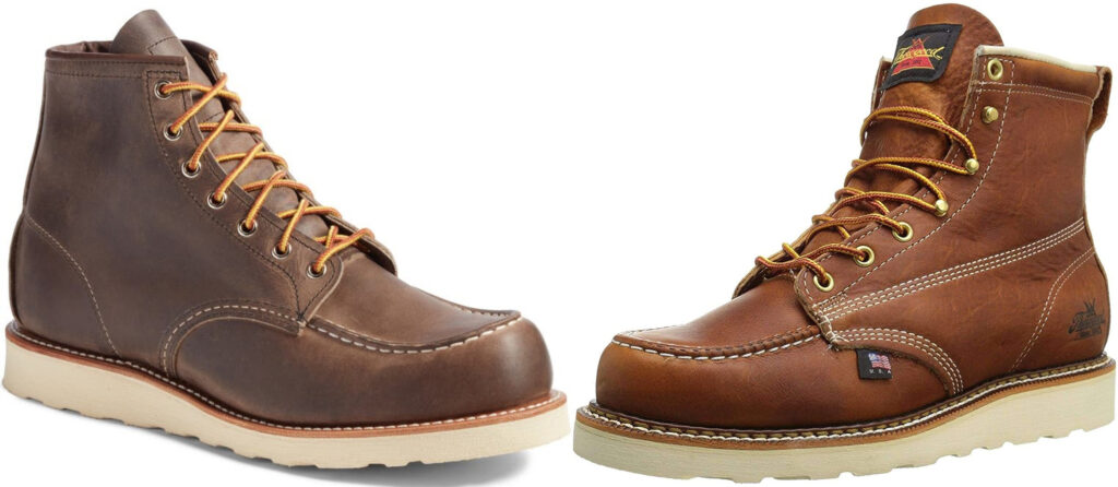 Red Wing Vs Thorogood Moc Toe Boots